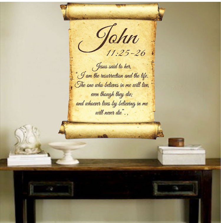 Scripture Wall Mural Decal