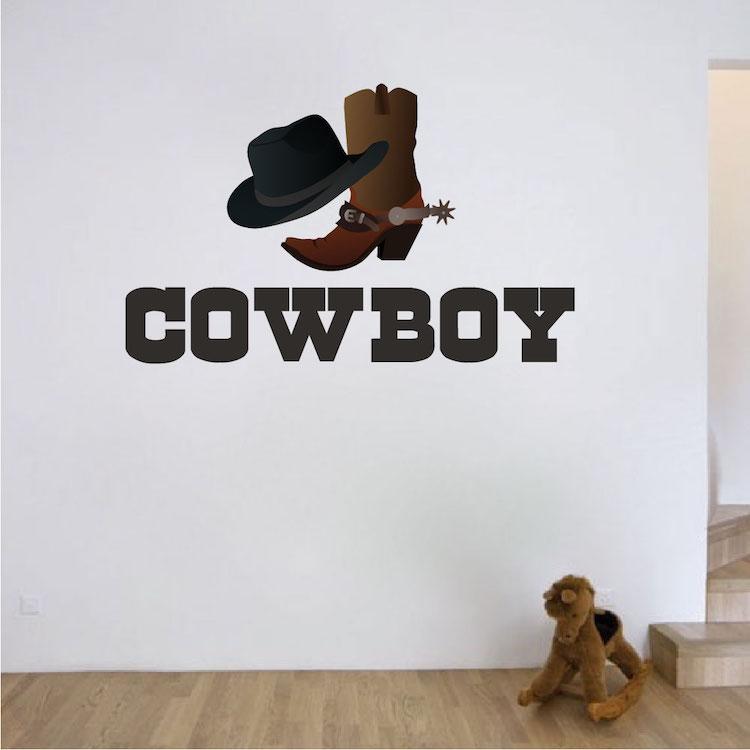 cowboy wall decal wild west stickers primedecals