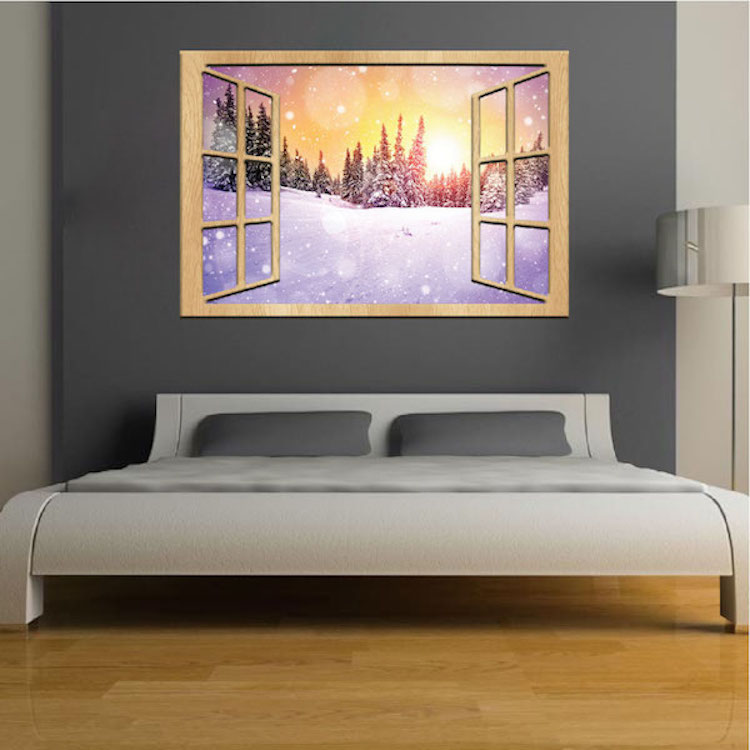 Winter Night Wall Mural Decal Part 34