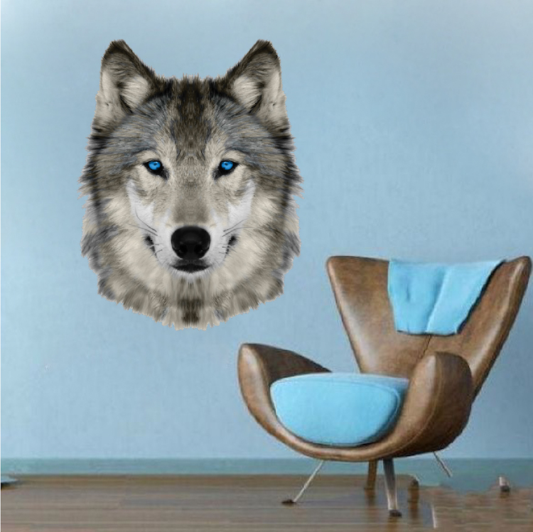 wolf head wall mural decal animal wall decal murals wall mural wolf wolf game zoo park pixersize com