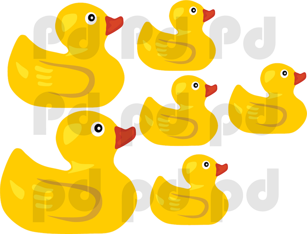 Rubber Duck Wall Mural Decal - Bathroom Wall Decal Murals - Primedecals