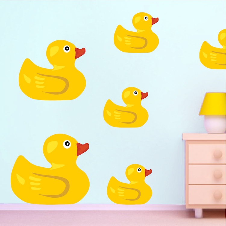 Rubber Duck Wall Stickers Bathroom Duck Decals House