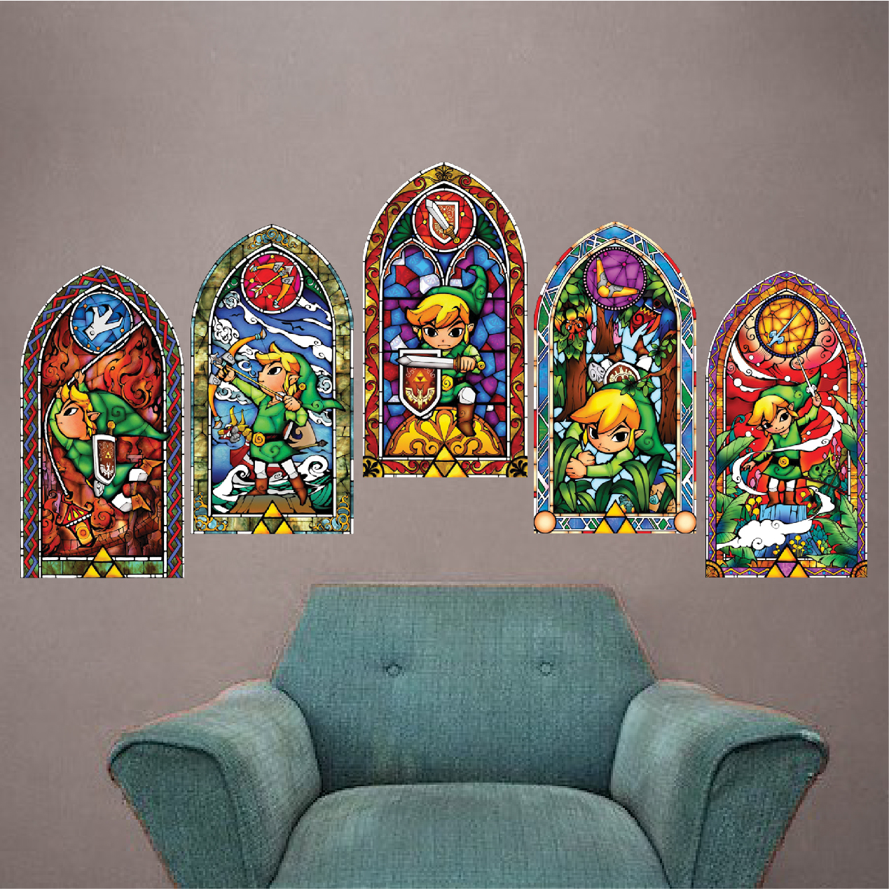 Zelda wind maker stained glass wall mural decals video game addthis sharing sidebar amipublicfo Choice Image