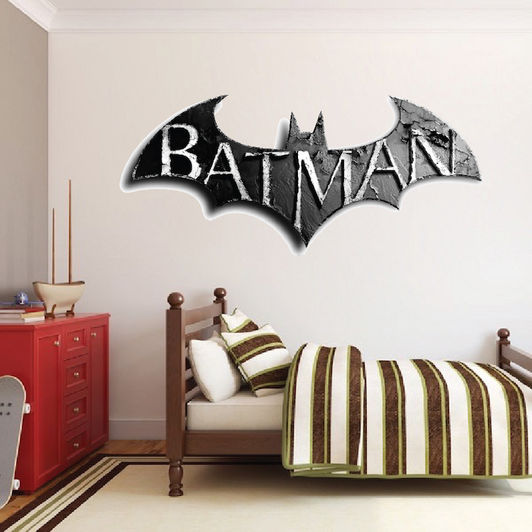 Arkham knight wall decal superhero wall design primedecals for Batman wall mural