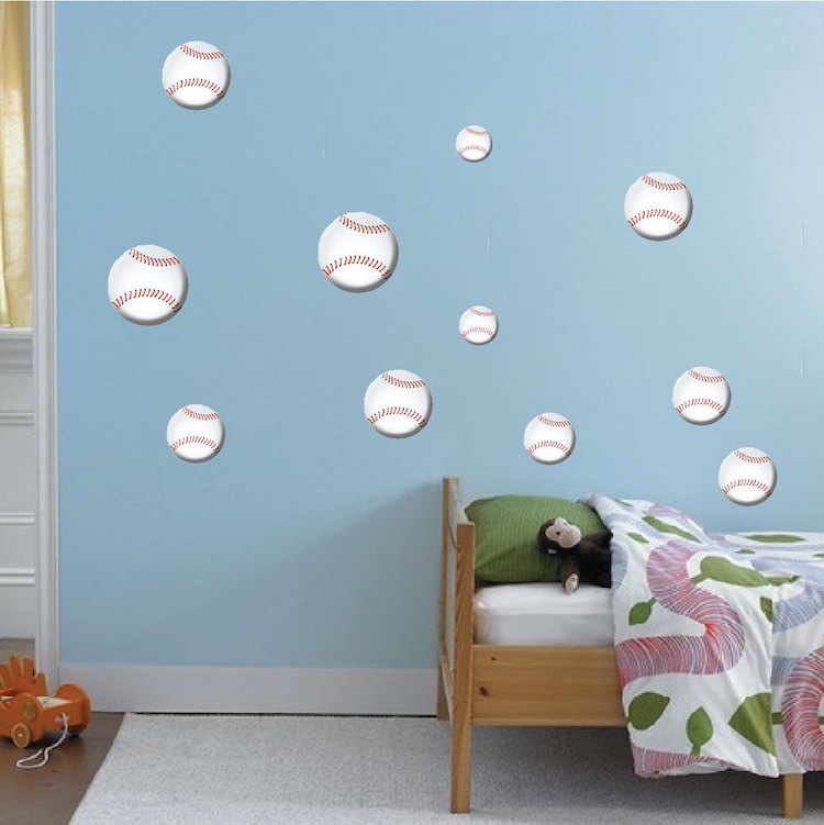 Baseball Wall Decals - Sports Wall Decal Murals - Primedecals
