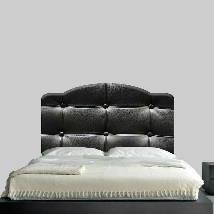 Black Cushion Headboard Wall Mural Decal