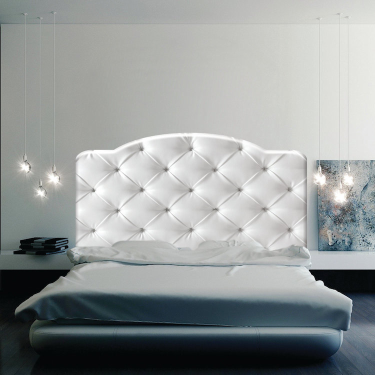 Cushion headboard mural decal headboard wall decal for Mural headboard