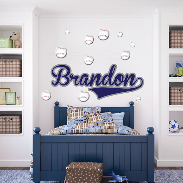 Awesome Custom Boys Name Wall Mural Decal Ideas