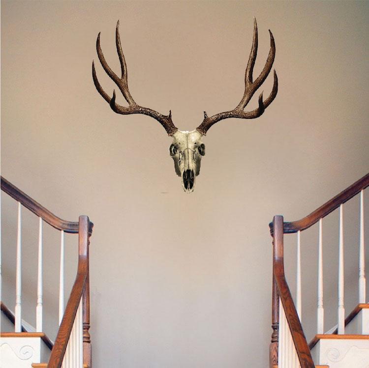Deer antler design decal wall decals prime decals for Deer mural decal