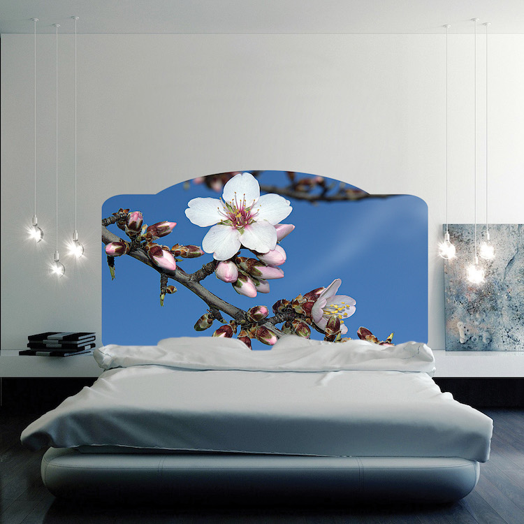 Floral headboard mural decal headboard wall decal murals for Mural headboard
