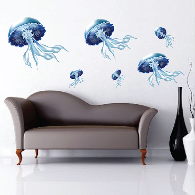 Wall Mural Decals jellyfish wall mural decal - nursery wall decal murals - primedecals