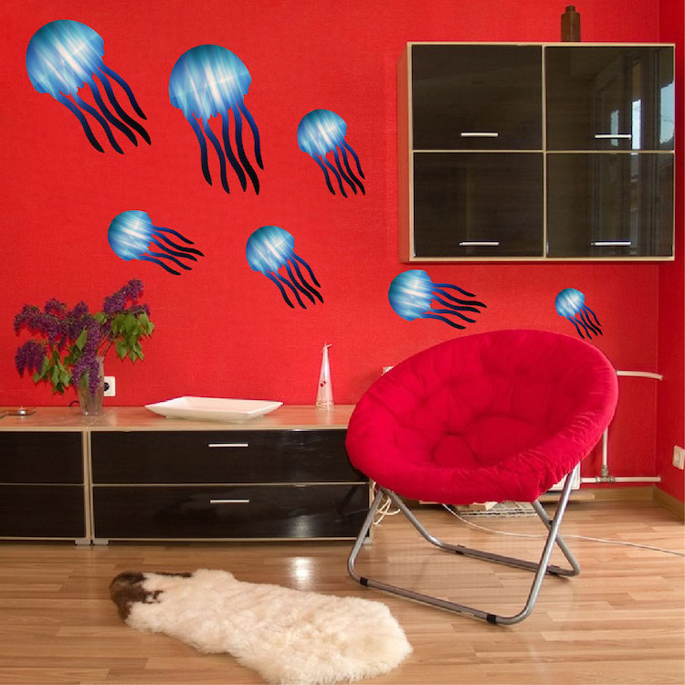 Quick View & Kids Jellyfish Decal - Nursery Wall Decal Murals - Primedecals
