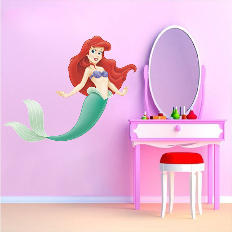 Little Mermaid Wall Mural Decal