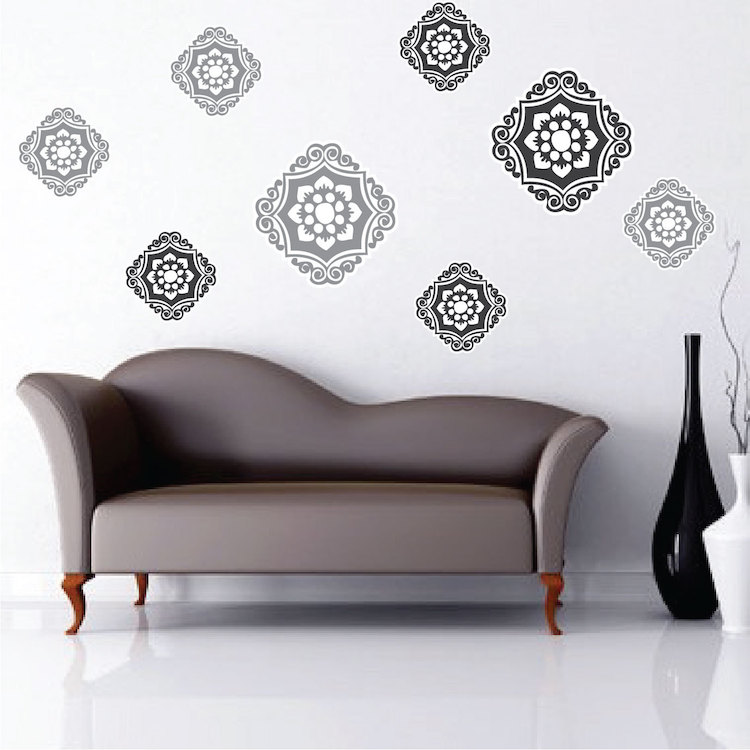 Ornament Wall Mural Decals Abstract Wall Decal Murals Primedecals