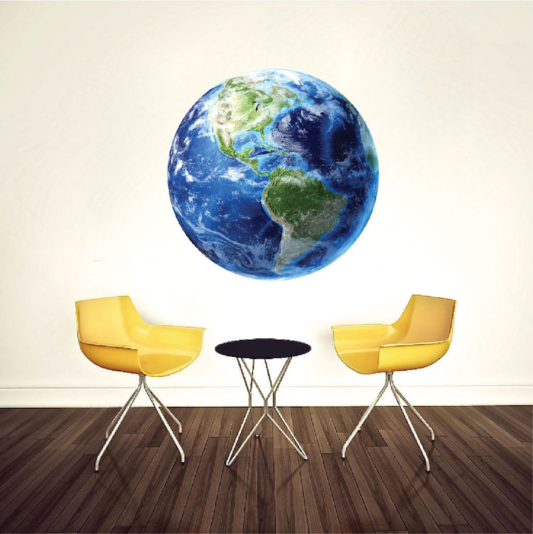 earth wall mural decal planet wall decal murals primedecals. Black Bedroom Furniture Sets. Home Design Ideas