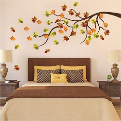 Orchid wall mural decal beautiful wall decal murals for Autumn tree mural