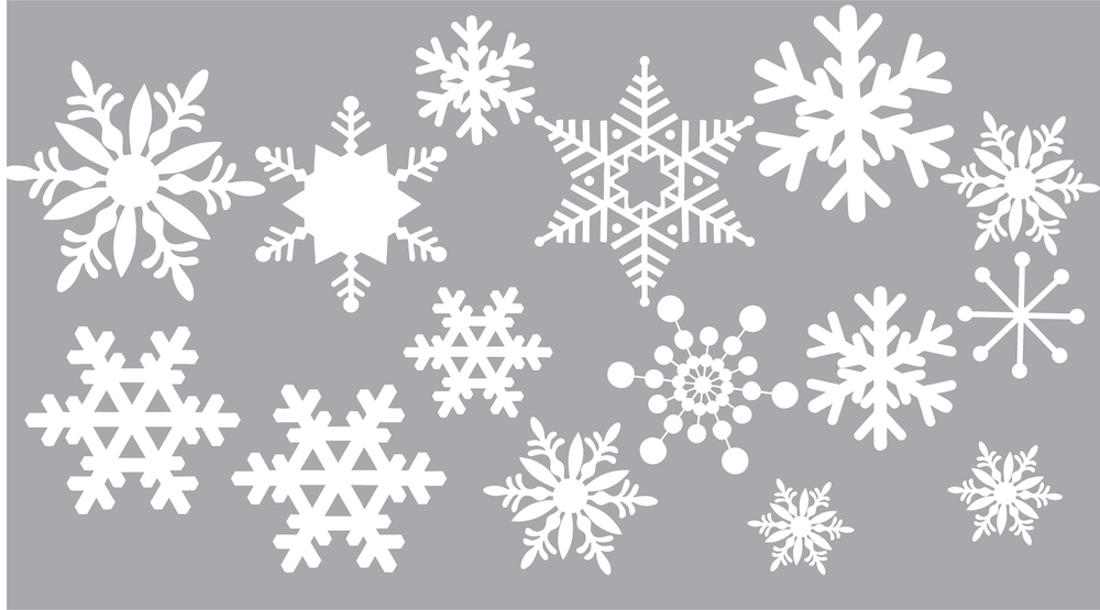 removable snow wall and window decals christmas decal stickers snowflake wall decals. Black Bedroom Furniture Sets. Home Design Ideas