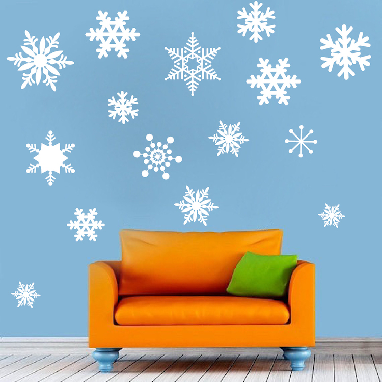 Charmant Removable Snow Wall And Window Decals   Christmas Decal Stickers   Snowflake  Wall Decals   Christmas Murals   Primedecals