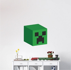 Minecraft Creeper Head 3D Wall Graphic
