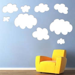 Bedroom Clouds Wall Mural Decal