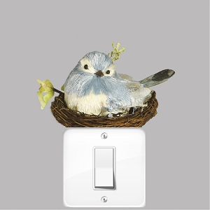 Cute Nesting Bird Wall Decal