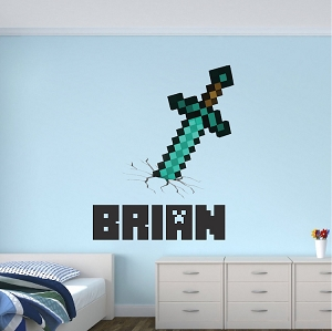 Minecraft Personalized Name Decal