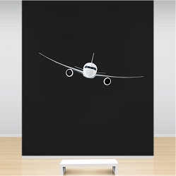 Airplane Wall Mural Decal
