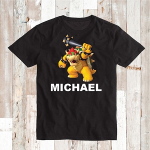 Bowser Baseball Custom Shirt