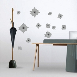 Bullet Hole Wall Mural Decals