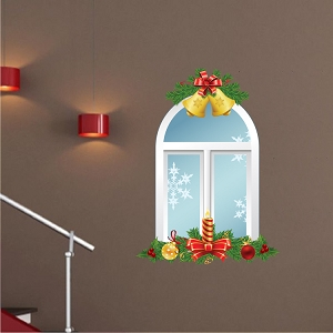 Christmas Window Wall Decal