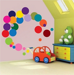 Colorful Dots Wall Mural Decal