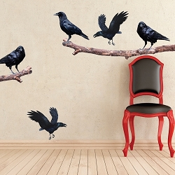 Crow on a Branch Wall Decals
