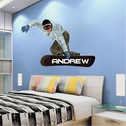 Snowboarder Wall Mural Decal