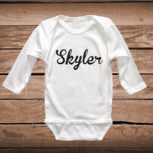 Custom Name on Bib, Tee or Onesie