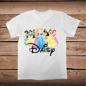 Personalized Disney Princess Tees