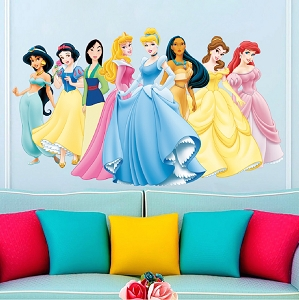 Gold crown wall mural decal boys room wallpaper king for Disney princess wall mural stickers