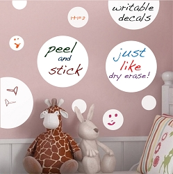 Dry Erase Polka Dots Writable Decal