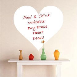 Heart Dry Erase Wall Decal