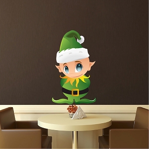 Christmas Elf Wall Decal Design North Pole Wall Decal