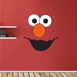 Elmo Face Kids Wall Decals