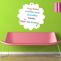 Flower Dry Erase Wall Decal