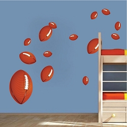 Football Wall Mural Decal