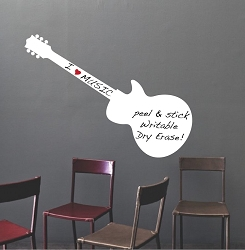 Guitar Dry Erase Decal