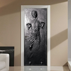 Han Solo Door and Wall Decal In Carbonite