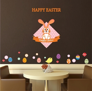 Happy Easter Decoration Decals