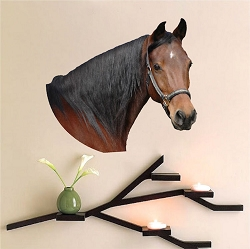 Horse Head Wall Mural Decal