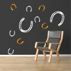 Horseshoe Wall Mural Decals