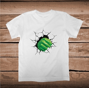 Cool 3d Fist Tee For Boys