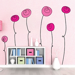 Nursery Flower Wall Mural Decals