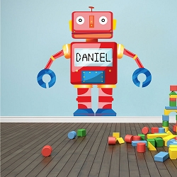 Personalized Robot Wall Mural Decal